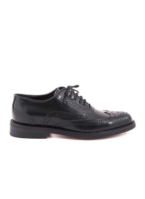 Kemal Tanca %100 Deri Oxford Ayakkabı Siyah